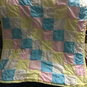 Other - Hand made quilt. Fits s baby bed.